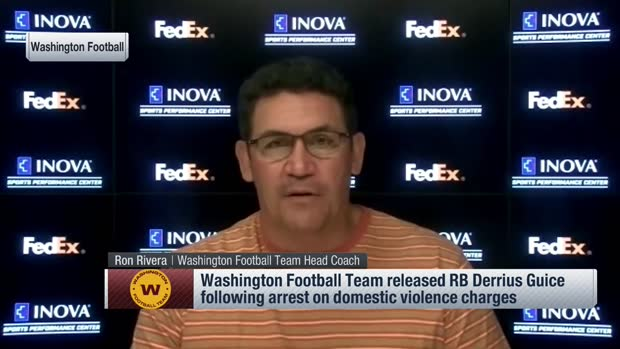 Ron Rivera explains why Washington released Derrius Guice