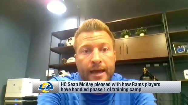 Sean McVay: Rams players have done well at being 'completely present' during practice