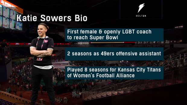 San Francisco 49ers assistant coach Katie Sowers reflects on her path to become first woman to coach in the Super Bowl