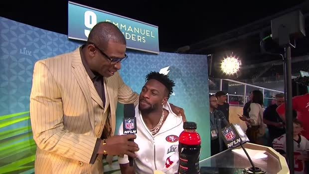 San Francisco 49ers wide receiver Emmanuel Sanders says 'organic realness' comes from 49ers' locker room, HC and GM