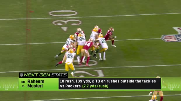 Next Gen Stats: San Francisco 49ers running back Raheem Mostert's success outside the tackles in NFC Championship Game