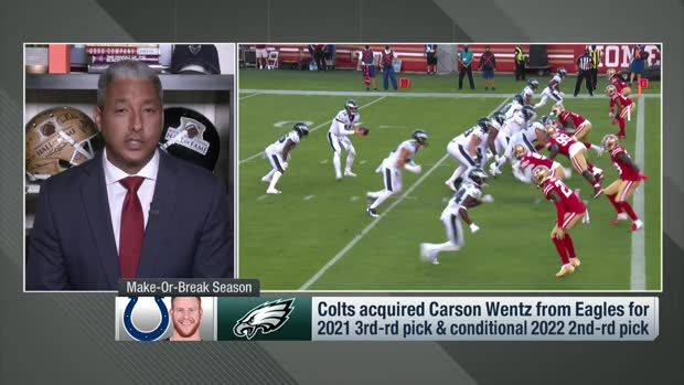 Silver: Colts 'won't hesitate' to make another QB move if Wentz's '21 is sub-par