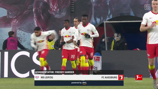 Bundesliga: RB Leipzig - FC Augsburg | DAZN Highlights