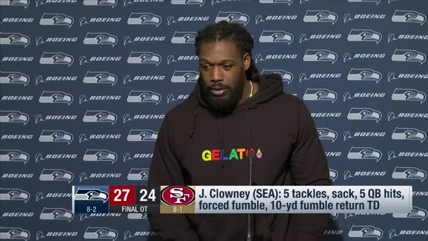 Seattle Seahawks defensive end Jadeveon Clowney: We're starting to head in the right direction