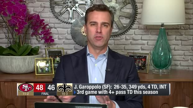NFL Network's Daniel Jeremiah shows how San Francisco 49ers head coach Kyle Shanahan schemed tight end George Kittle open for huge fourth-down catch