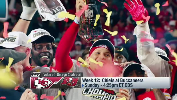 Pro Football Focus' game preview for Chiefs-Bucs in Week 12
