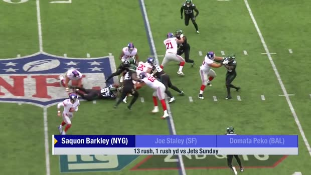 New York Giants RB Saquon Barkley weighs in on his recent struggles