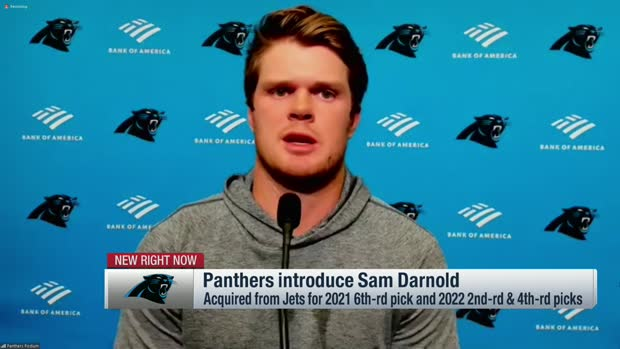 Sam Darnold's introductory news conference as a Carolina Panther