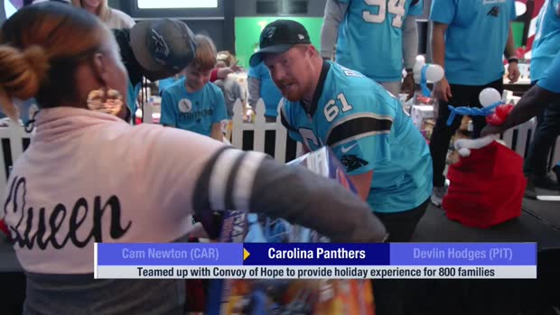 Carolina Panthers provide holiday experience for 800 families