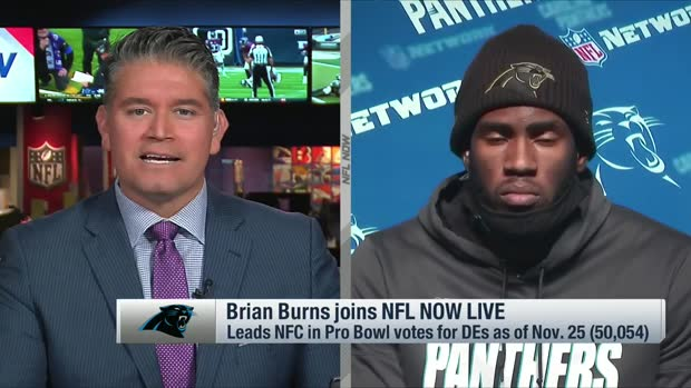 Brian Burns reacts to leading defensive ends in Pro Bowl voting