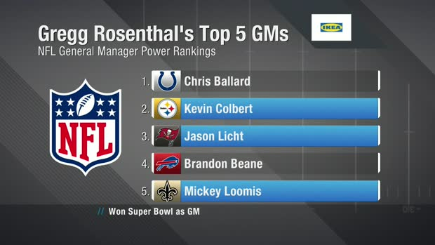 Gregg Rosenthal breaks down his Top NFL GM rankings