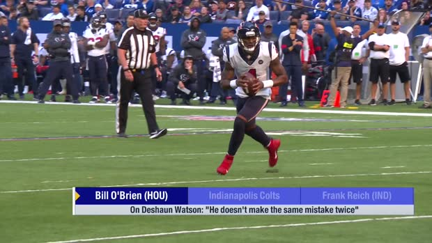 Houston Texans head coach Bill O'Brien on QB Deshaun Watson: 'He doesn't make the same mistake twice'