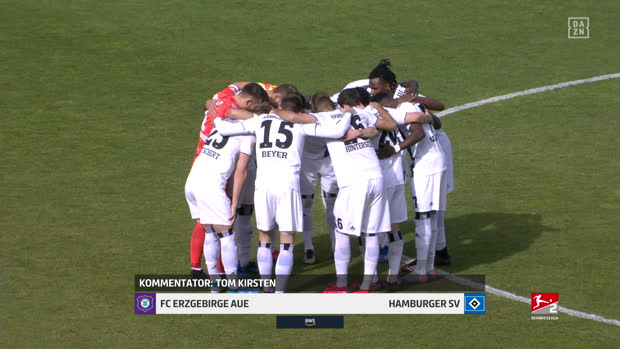 2. Bundesliga: FC Erzgebirge Aue - Hamburger SV | DAZN Highlights