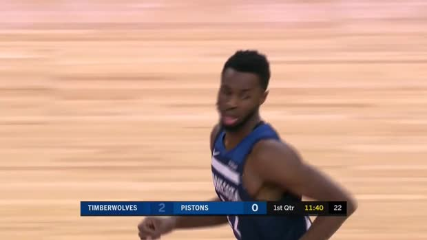 WSC: Andrew Wiggins with 33 Points vs. Detroit Pistons