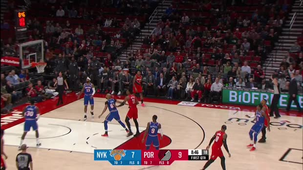 WSC: Hassan Whiteside Blocks in Portland Trail Blazers vs. New York Knicks