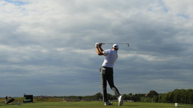 Johnson pleased with round on 'hard' Shinnecock course