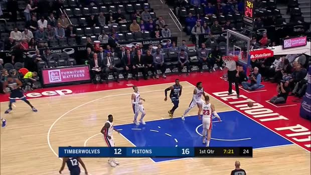 WSC: Karl-Anthony Towns with 25 Points vs. Detroit Pistons