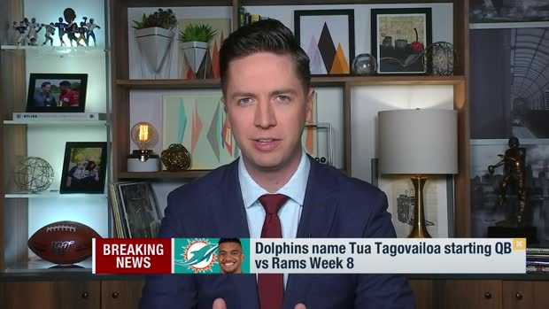 Pelissero: Dolphins name Tua Tagovailoa starting QB vs. Rams