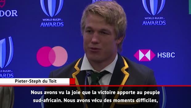 World Rugby : World Rugby - Du Toit, élu joueur de l'année - 'De la joie pour notre pays'