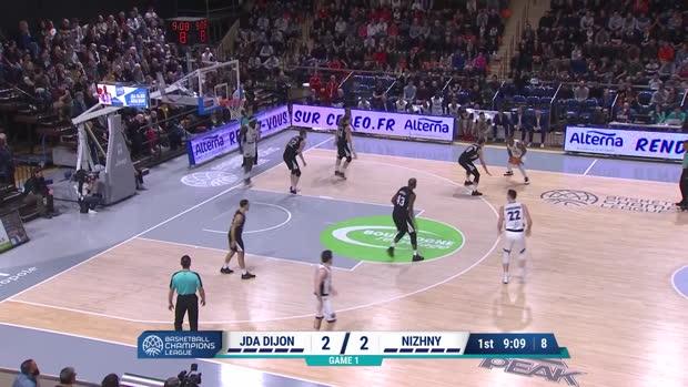 Basket : BCL - Dijon bat Novgorod