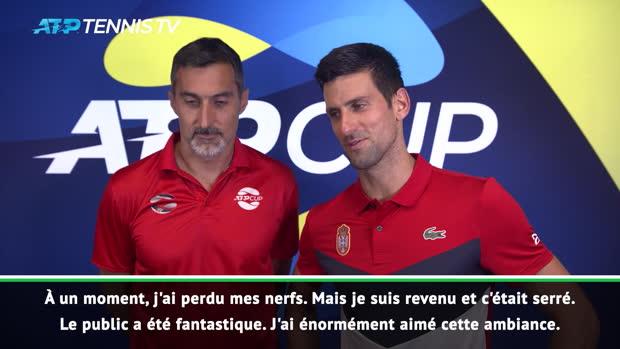 : ATP Cup - Djokovic - 'C'était un match incroyable'