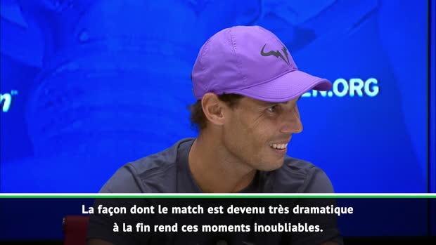 : US Open - Nadal - 'Impossible de retenir mes émotions'