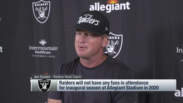 Gruden reacts to not having fans in Allegiant Stadium in L.V. Raiders' inaugural season