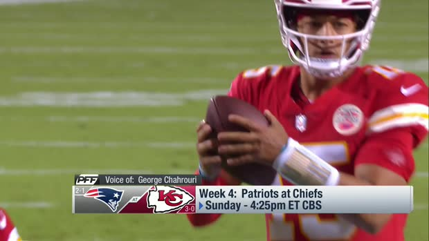PFF projects win probability for Patriots vs. Chiefs