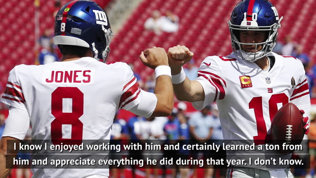 I enjoyed working with Manning, even if it was awkward at times - Giants QB Jones
