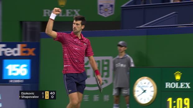 : Shanghai - Djokovic passe l'obstacle Shapovalov