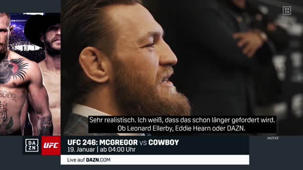Conor McGregor will zurück in den Boxring | DAZN Interview