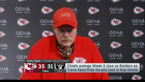 Reid, Gruden react to Chiefs' win over Raiders in rematch
