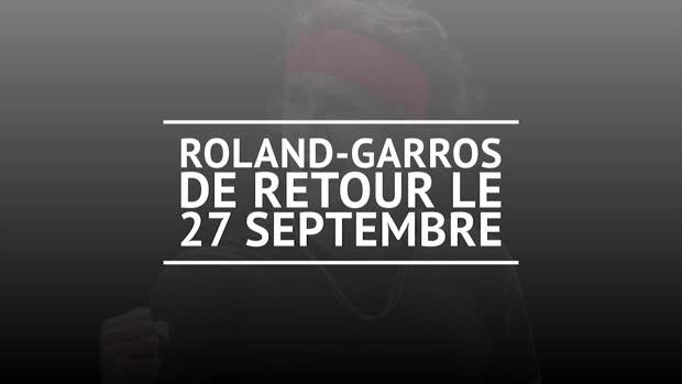 Basket : ATP - Roland-Garros de retour le 27 septembre