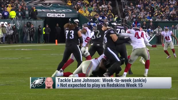 NFL Network Insider Ian Rapoport offers updates on Philadelphia Eagles right tackle Lane Johnson, wide receiver Alshon Jeffery injuries
