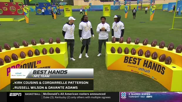 Cleveland Browns wide receiver Jarvis Landry's diving catch wins 'Best Hands' for AFC | 2020 Pro Bowl Skills Showdown