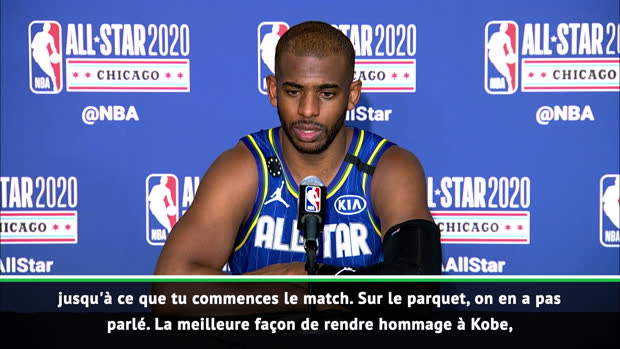 """Basket : All-Star Game - Paul - """"La meilleure façon de rendre hommage à Kobe était de jouer"""""""