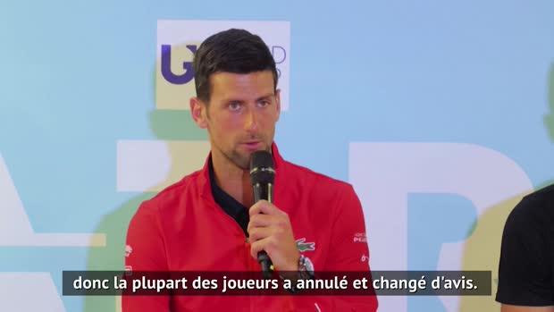 : Adria Tour - Djokovic - 'Beaucoup de joueurs ont changé d'avis'