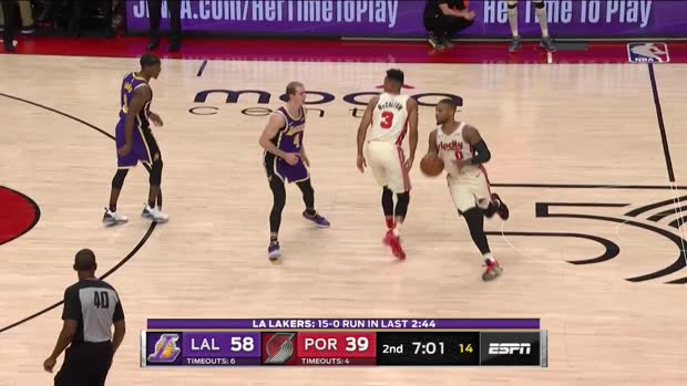 WSC: Damian Lillard with 29 Points vs. Los Angeles Lakers