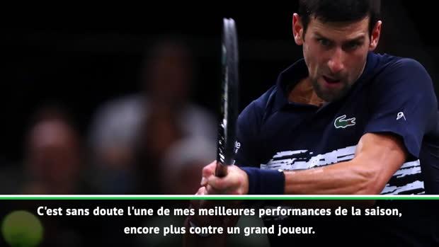 """Basket : Rolex Paris Masters - Djokovic - """"L'une de mes meilleures performances de la saison"""""""