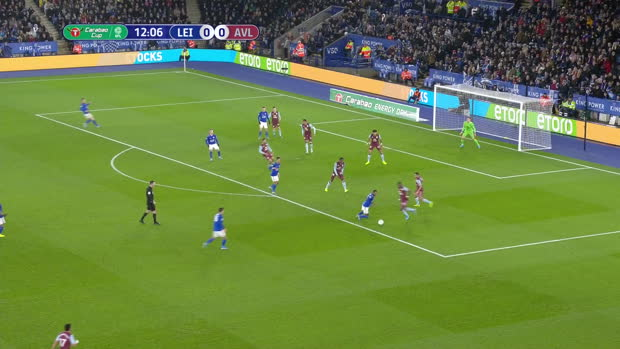 Carabao Cup: Leicester City - Aston Villa | DAZN Highlights