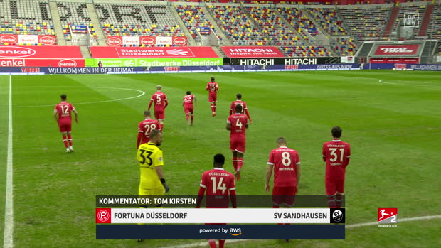 2. Bundesliga: Fortuna Düsseldorf - SV Sandhausen | DAZN Highlights