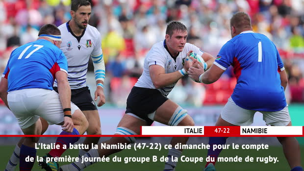 Rugby : Fast Match Report - Italie 47-22 Namibie