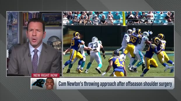 Ian Rapoport: Cam Newton's WRs say he's not throwing with as much zip in 2019