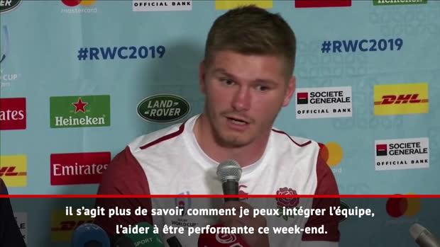 """Rugby : Quarts - Farrell  - """"Jouer au poste d'ouvreur, ça me convient"""""""
