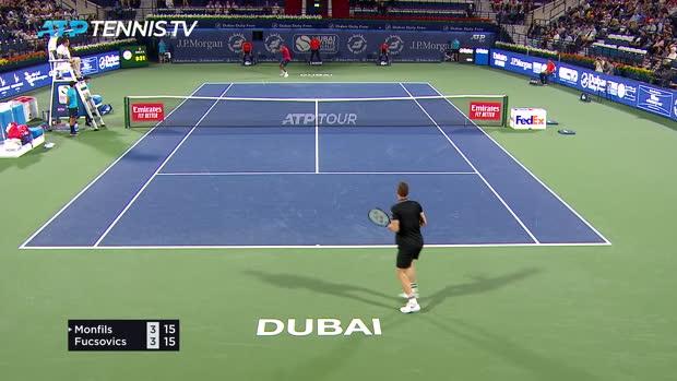 Basket : ATP - Dubaï - Monfils sort Fucsovics avec difficulté