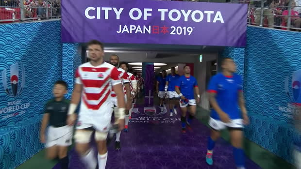 「【ハイライト】日本 vs. サモア ラグビーワールドカップ2019 プールA」の画像検索結果