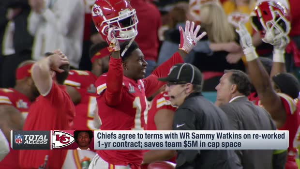 NFL Network's Tom Pelissero: Contract talks for Kansas City Chiefs quarterback Patrick Mahomes, defensive tackle Chris Jones likely to pick up after the 2020 NFL Draft
