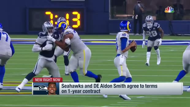 Rapoport: 'Hawks tried to trade for Aldon Smith in '20 before '21 signing