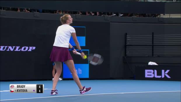 : Brisbane - Kvitova tient son rang