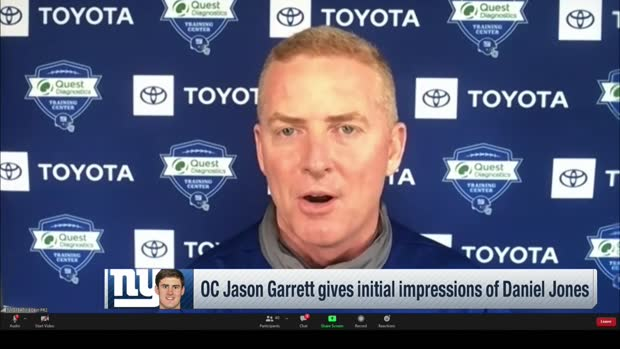 Jason Garrett shares what 'really jumps out' about Daniel Jones so far